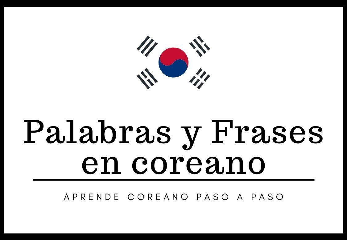 curso palabras y frases en coreano