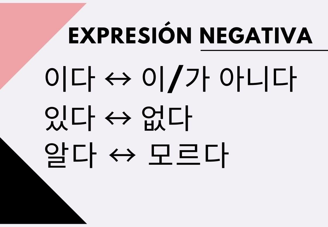 negación en coreano