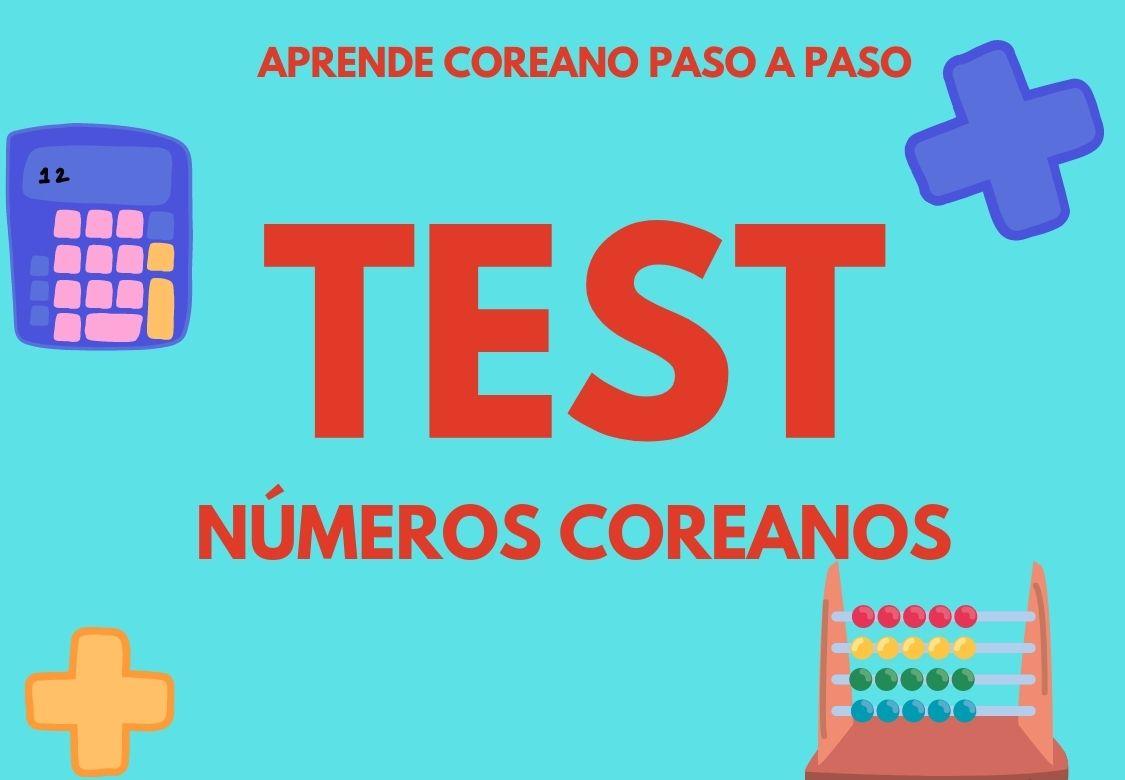 TEST números coreanos
